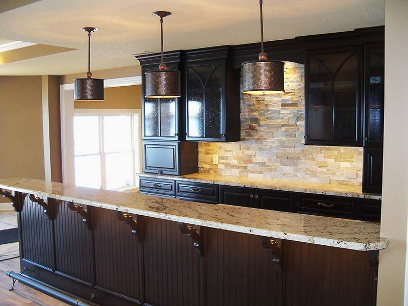 This Spring Beige Granite bar creating a welcoming atmosphere.