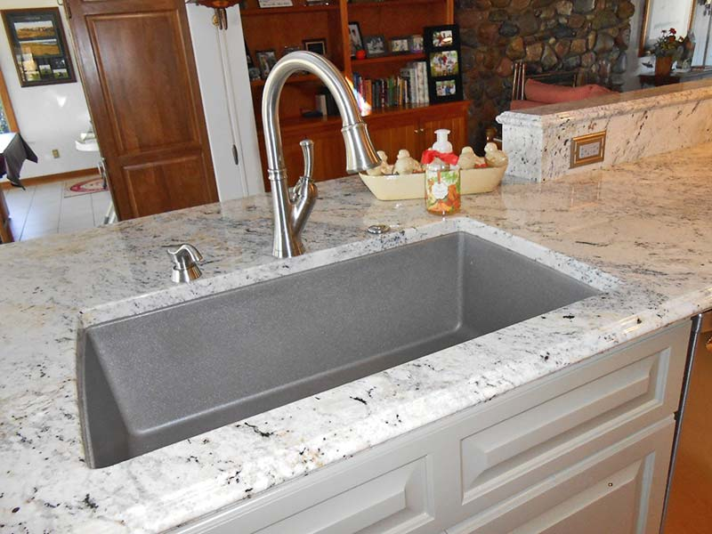 Delicatus Granite sink and kitchen counter.