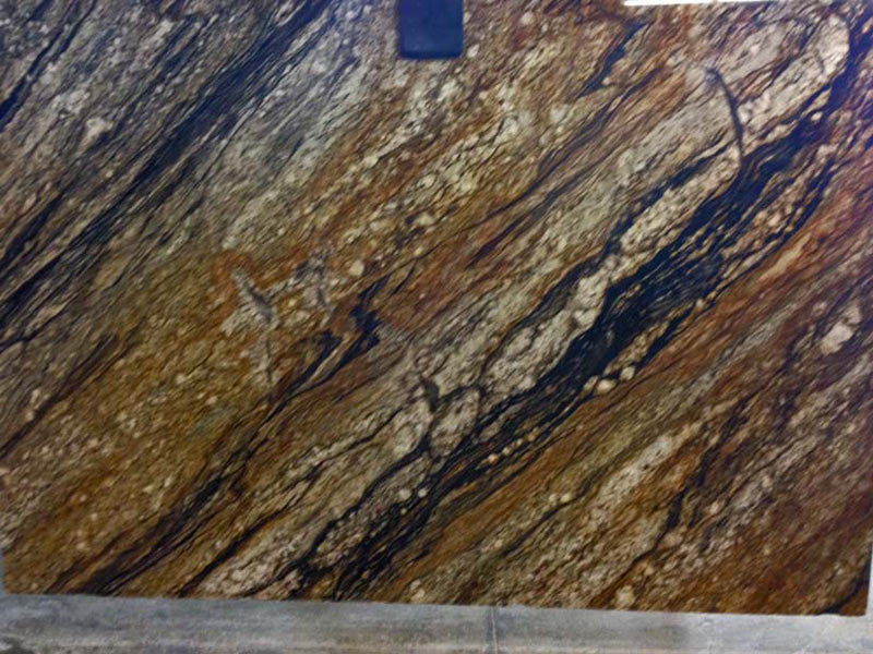 Supreme Magma slabs with great movement and color variety.