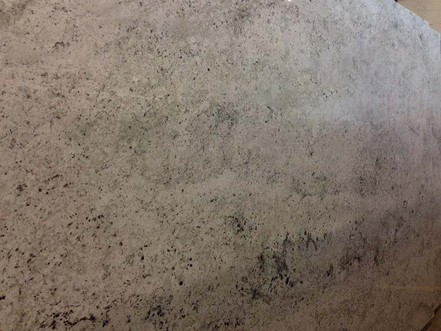 Polished Colonial White Granite Slab
