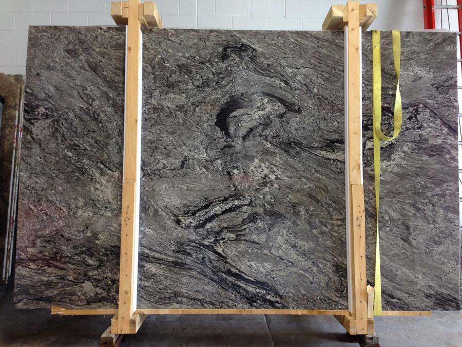 Polished White Thunder Granite Slab