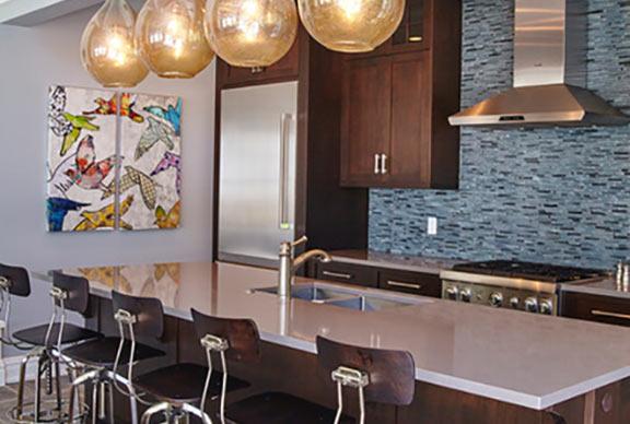 Venatino Quartz Kitchen Counter